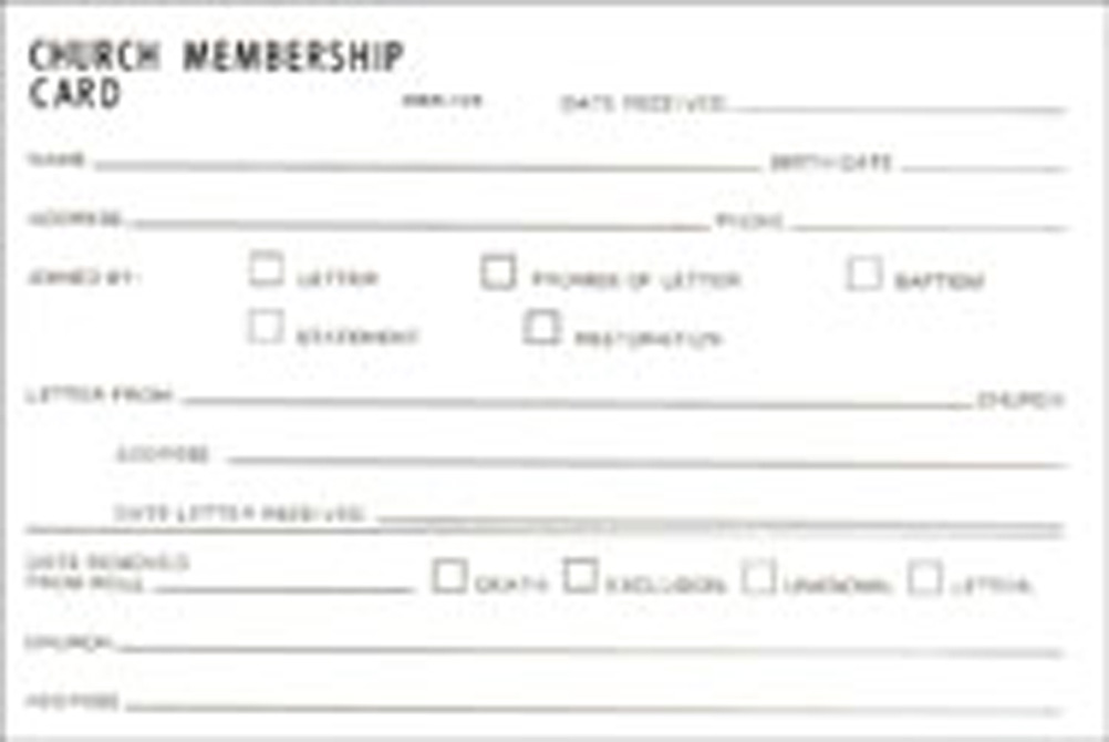 avery membership card template - church connection card template