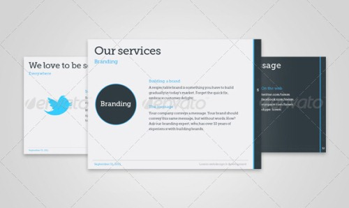 clean powerpoint templates