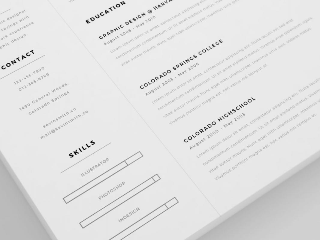 Clean Resume Template Shatterlionfo
