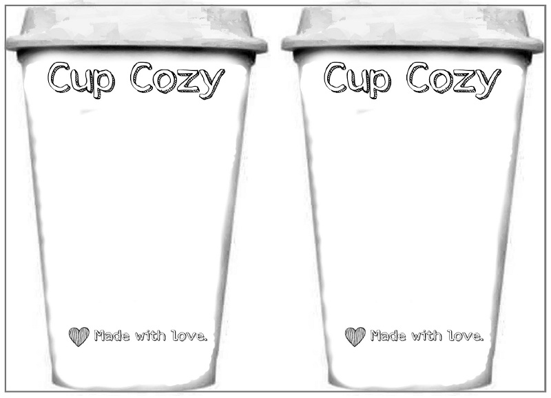 coffee sleeve template