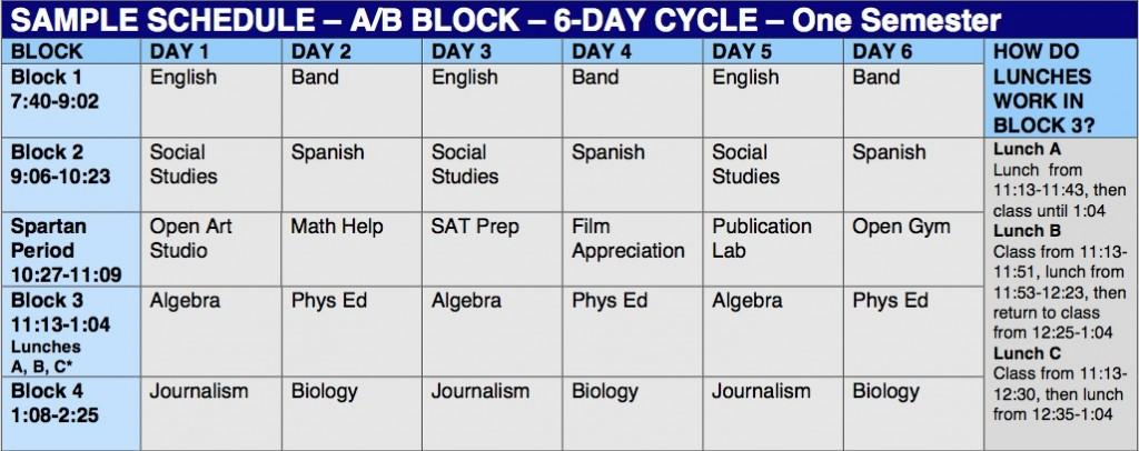 College Class Schedule Template | shatterlion.info