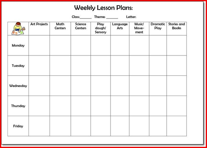 College Lesson Plan Template  ShatterlionInfo