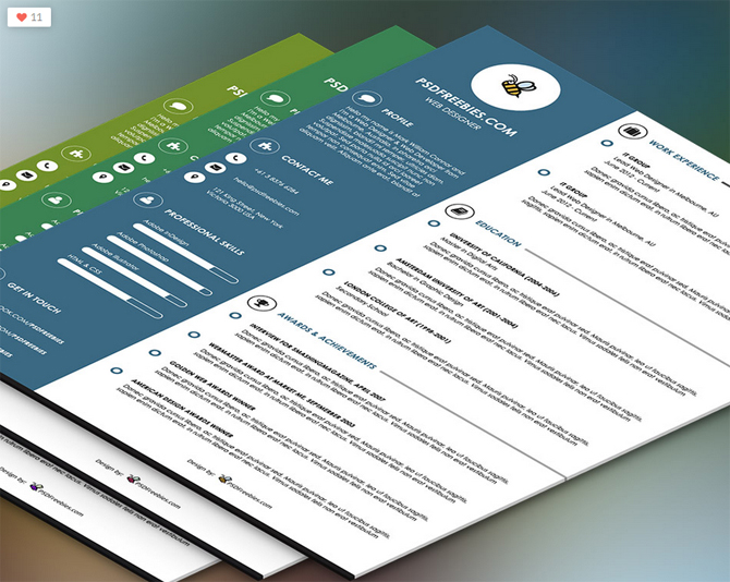Colorful Resume Templates | shatterlion.info