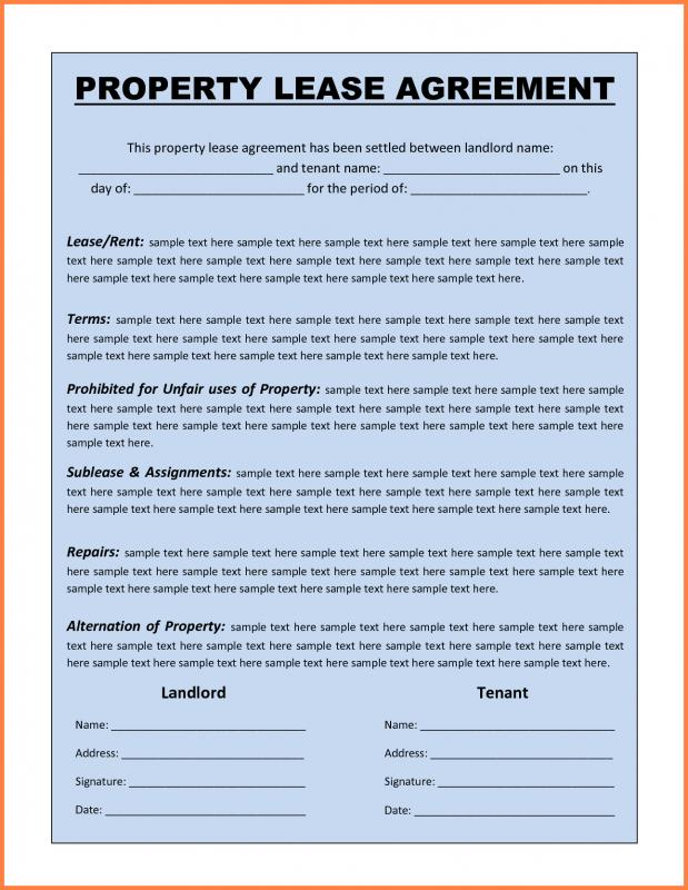 Industrial Lease Agreement Template Phrase  Property Lease Agreement Template Free