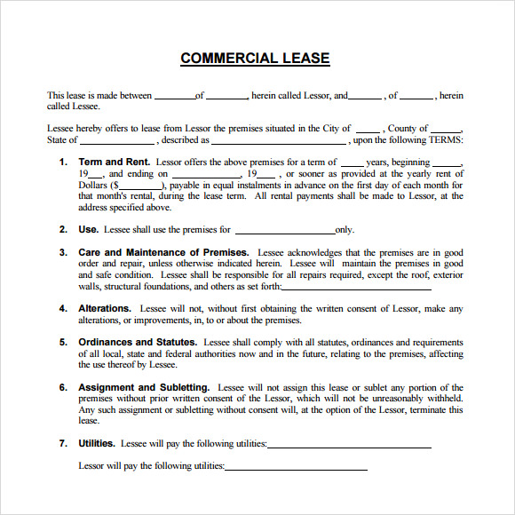 Office lease template romeondinez office lease template accmission Images