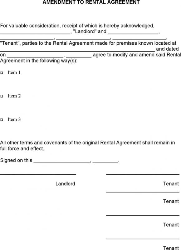 contract addendum template