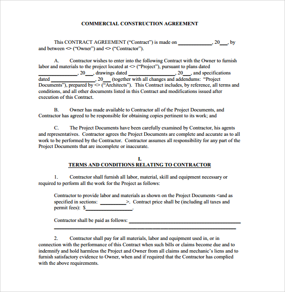 contract template google docs