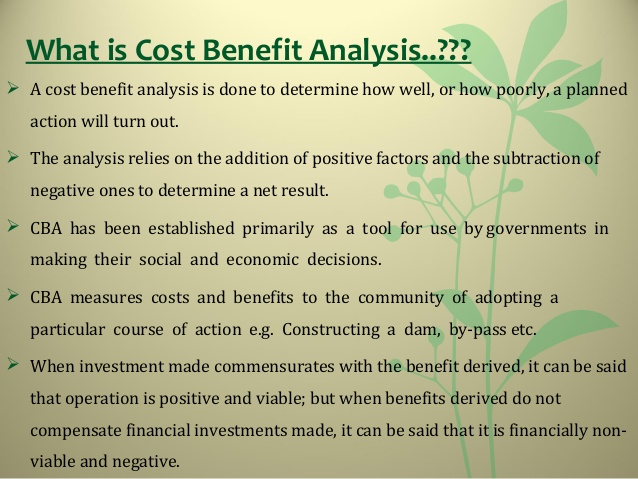 cost analysis template