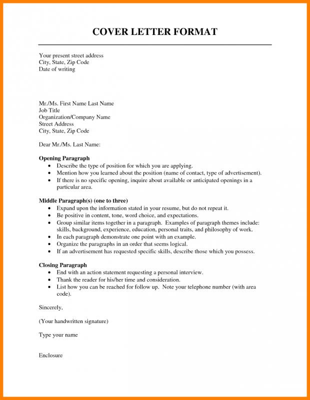 cover letter template examples