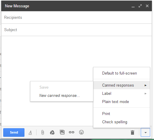 create email template in gmail