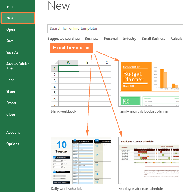 Create Excel Templates | shatterlion.info