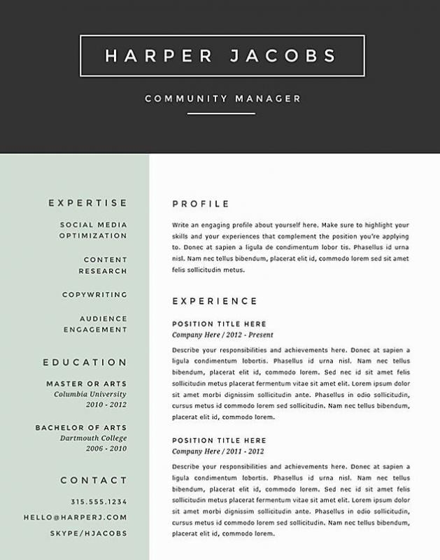 Cv Template Word Shatterlion Info