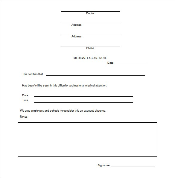 doctors note template microsoft word