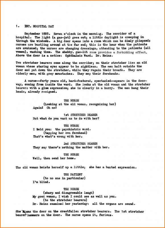 Documentary script template for Free movie script template