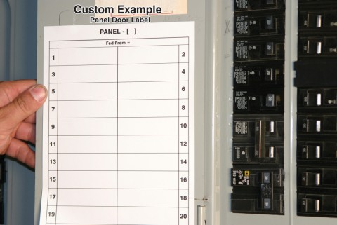 electrical panel labels template