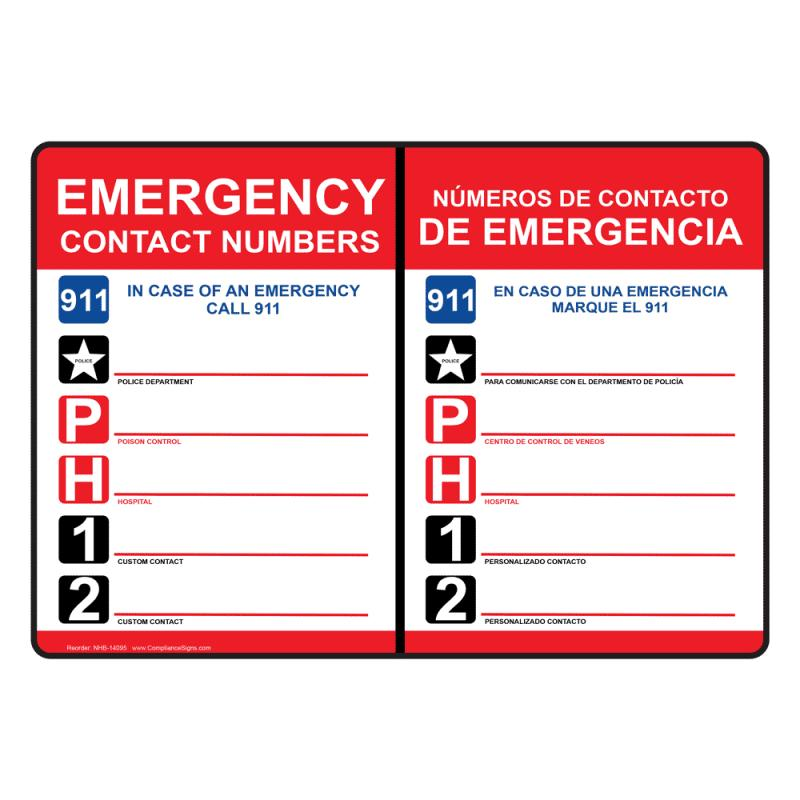 Emergency Contact Form Template  ShatterlionInfo
