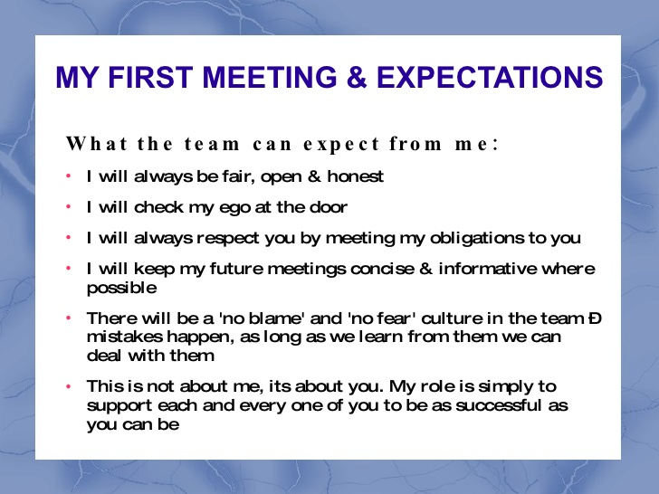 employee expectations template