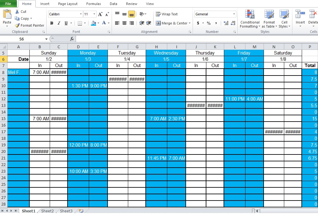 Employee Shift Schedule Template | shatterlion.info