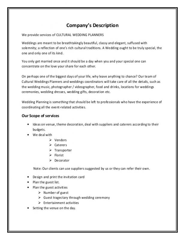 event planner contract template