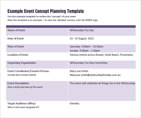 Event Proposal Template Event Proposal Template Eventpropsalsample