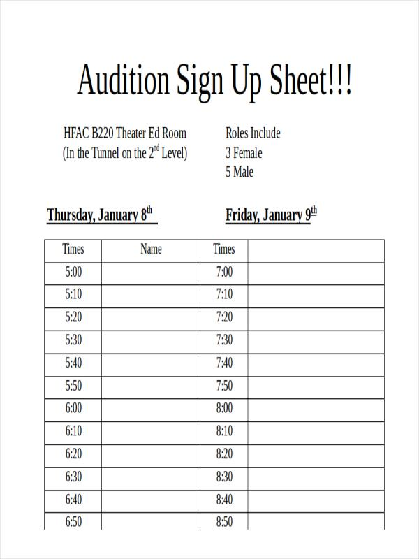 Event Sign Up Sheet Template. Event Sign In Sheet Template ...