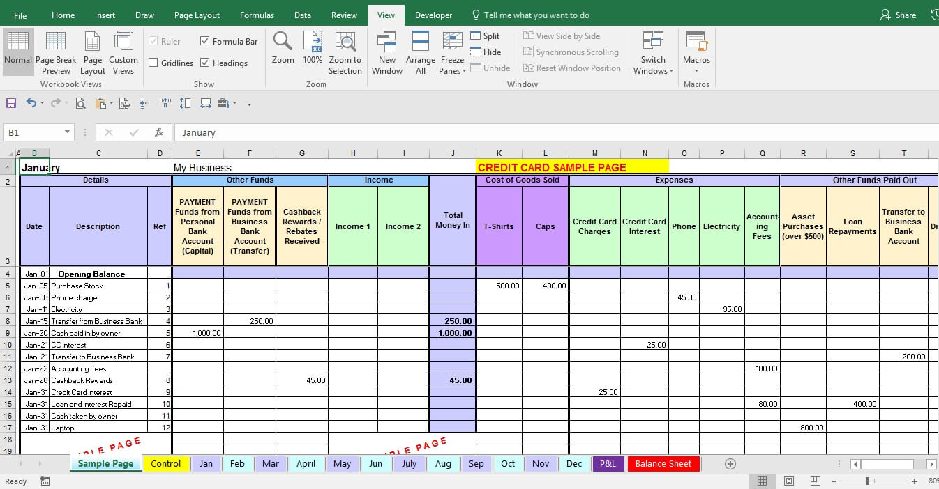 excel expenses template