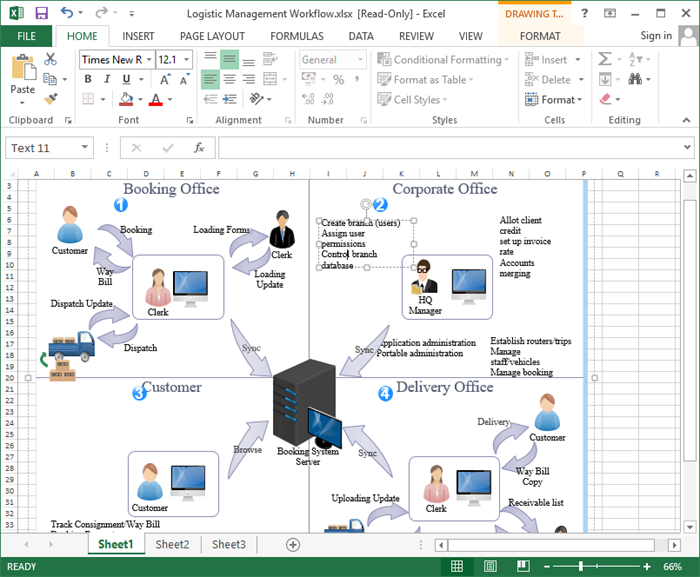 excel workflow template