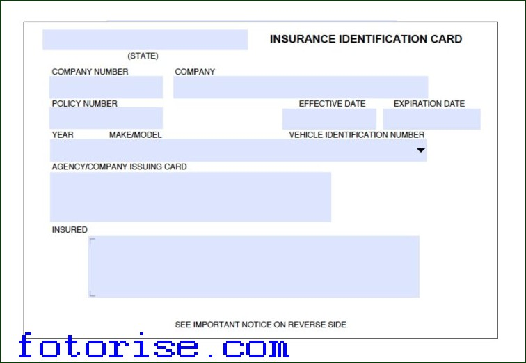 fake car insurance card template free  Fake Insurance Card Template | shatterlion.info