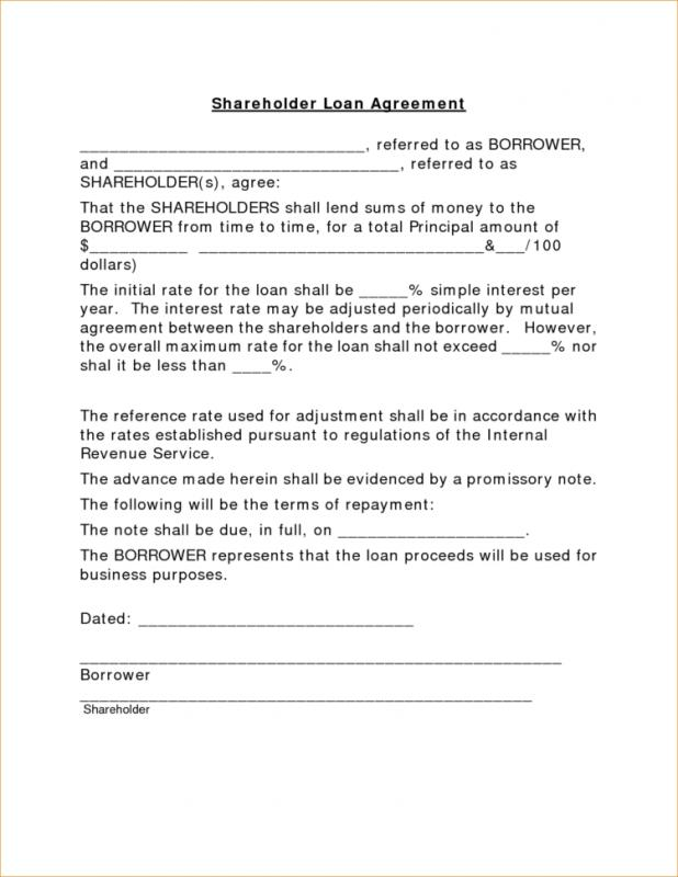 Household Loan Agreement Template  Loan Templates