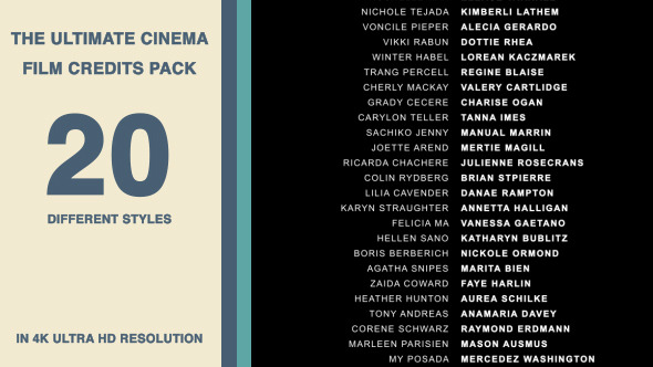 Film Credits Template | shatterlion.info