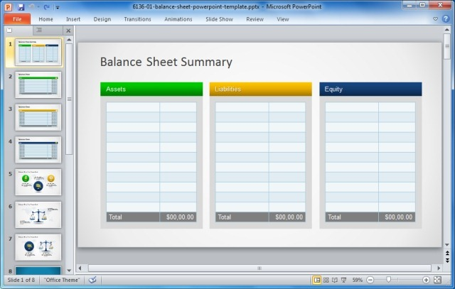 Financial Statement Template  ShatterlionInfo