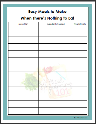 free budget planner template
