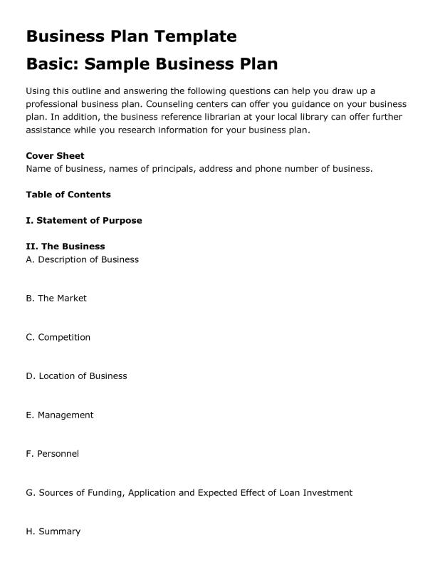 Free Business Plan Template Word Shatterlioninfo - Business plan template free word