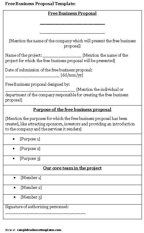 Free business proposal template shatterlionfo free business proposal template fbccfo Gallery