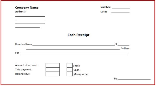 free cash receipt template - Free Cash Receipt Template