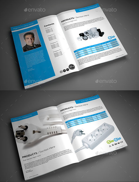 free catalog template