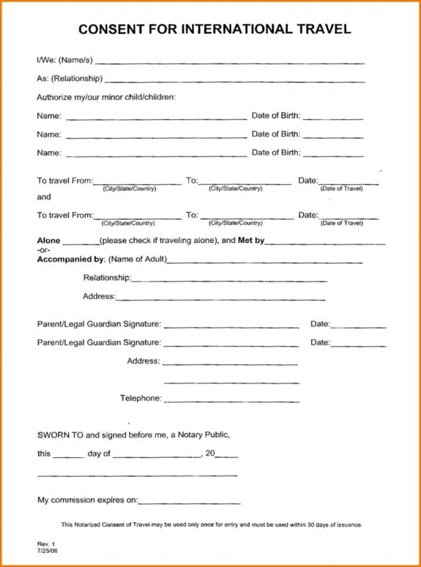 Free Baby Journey Consent Form Template