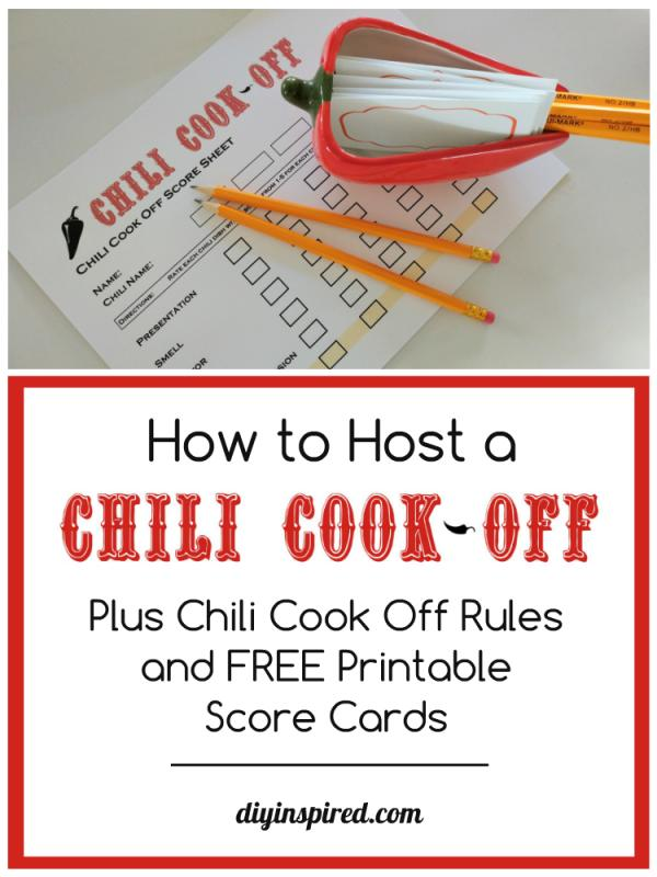 free chili cook off flyer template