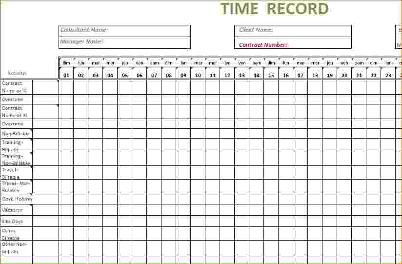 free excel timesheet template
