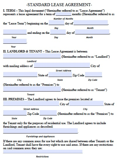 colorado lease template  Free Lease Agreement Template Word | shatterlion.info