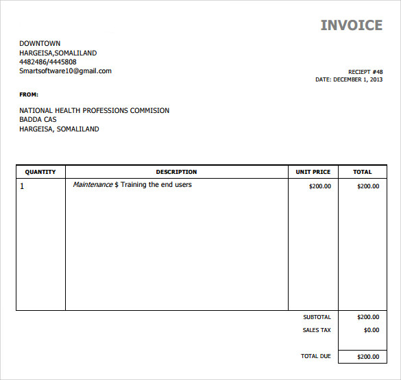 Free Online Invoice Template Shatterlionfo