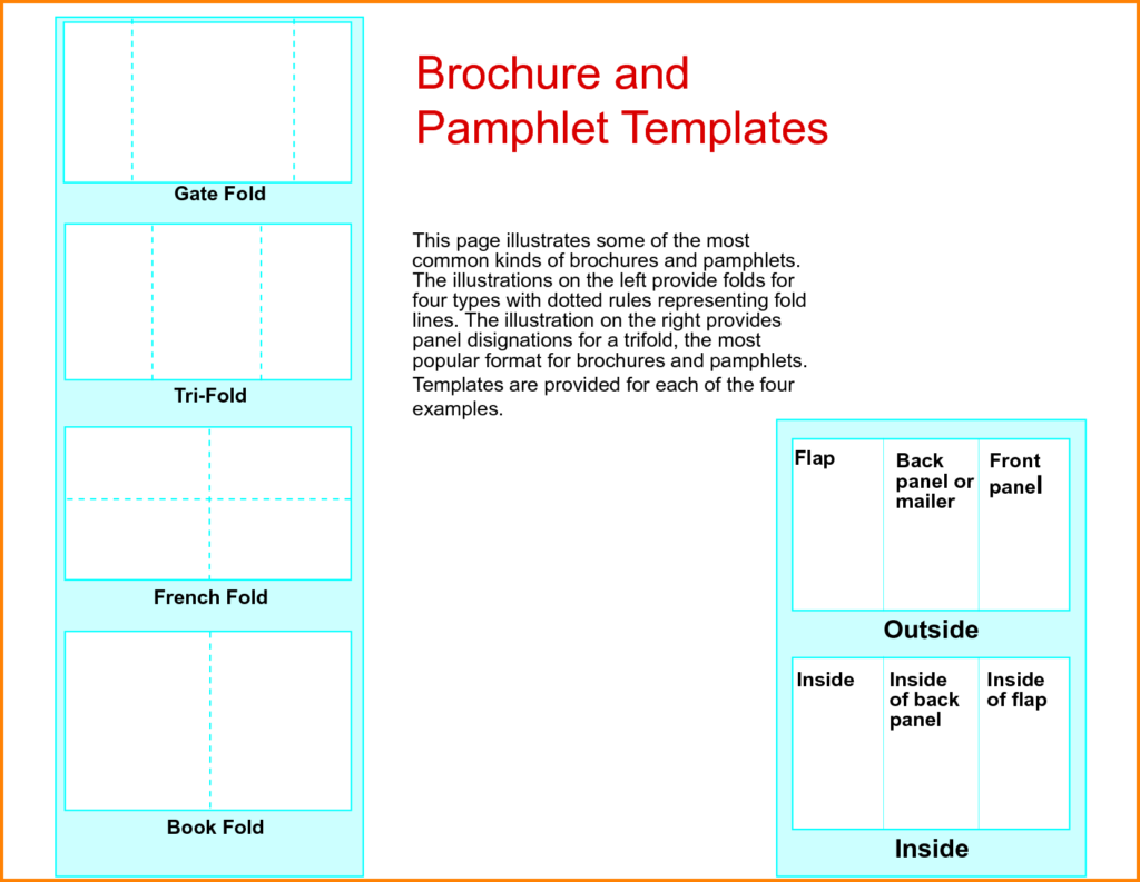 free pamphlet template