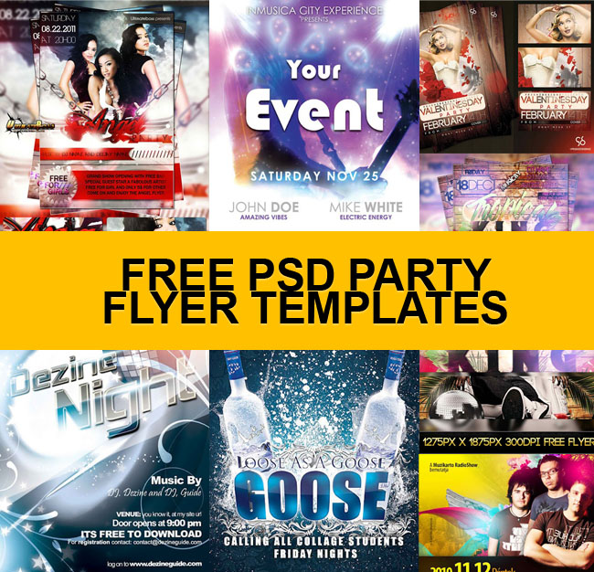 free party flyer templates