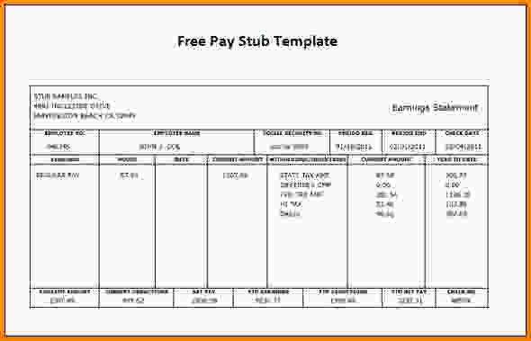 fake pay stub template Free Pay Stub Template | shatterlion.info
