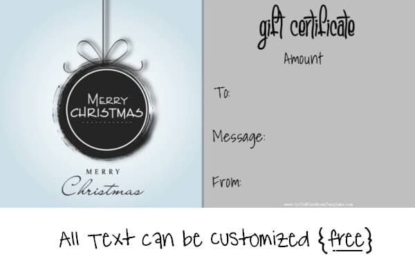 Christmas coupons template free pasoevolist christmas coupons template free gift certificate template yelopaper Image collections