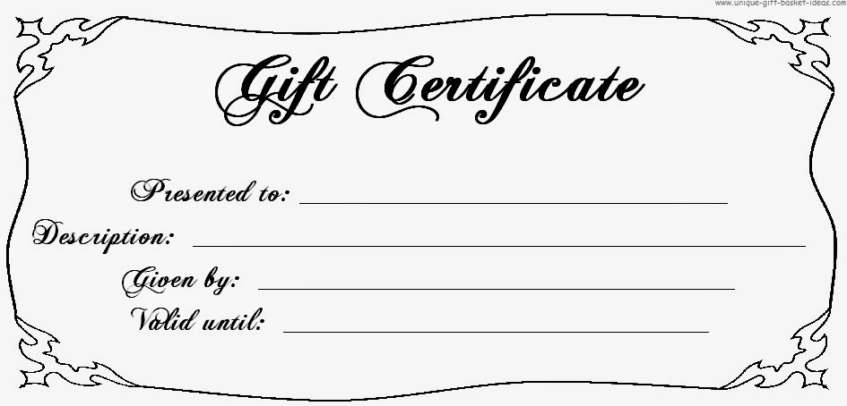 free printable gift certificate template