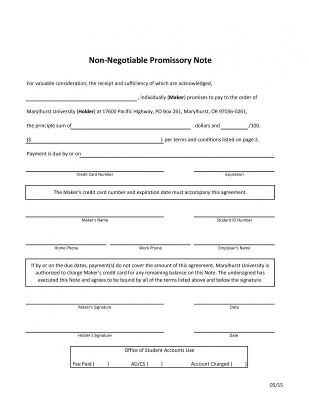 free promissory note template for personal loan