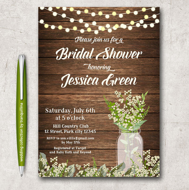 Free rustic wedding invitation templates for Free rustic wedding invitation templates