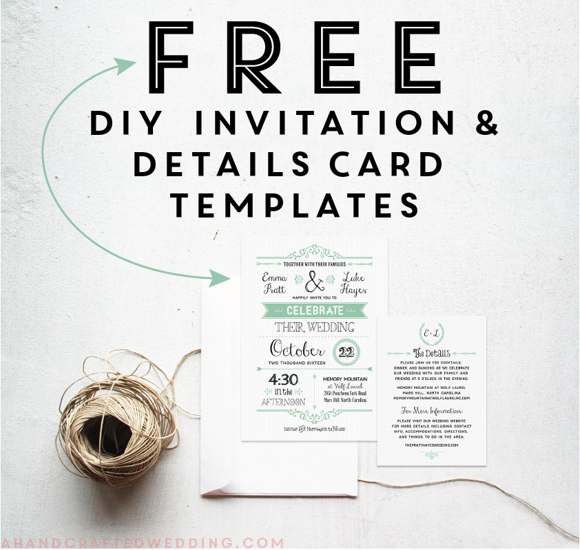 free rustic wedding invitation templates - Free Rustic Wedding Invitation Templates