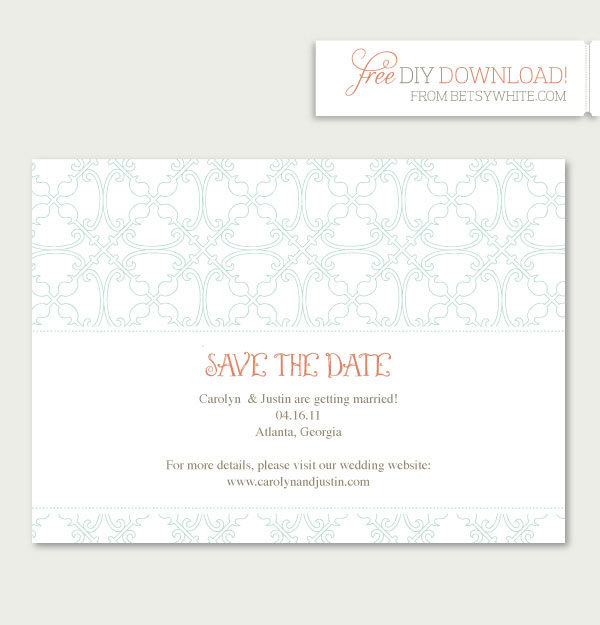 Free save the date templates for Free vintage save the date templates